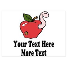 Red Apple Teacher Invitations