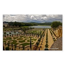 Versailles Garden Sticker (rectangle)
