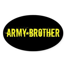 Army Brother: Black and Gold Decal