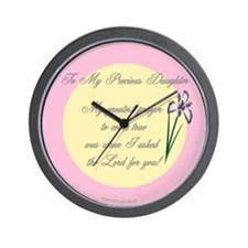 My Precious Daughter Wall Clock