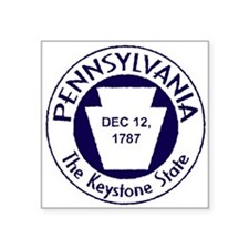 "Cute Pennsylvania Square Sticker 3"" x 3"""