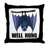 WELL HUNG Throw Pillow