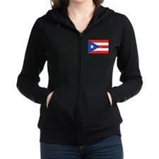 Puerto Rico New York Flag Lady Liberty Women's Zip