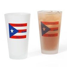 Puerto Rico New York Flag Lady Liberty Drinking Gl