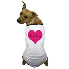 Personalizable Pink and Black Heart Dog T-Shirt