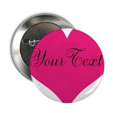 """Personalizable Pink and Black Heart 2.25"""" Button"""