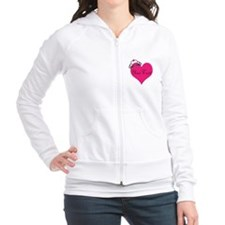 Personalizable Pink Heart with Crown Fitted Hoodie
