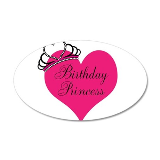 Birthday Princess Heart Wall Decal