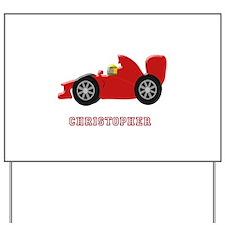Personalised Red Racing Car Yard Sign