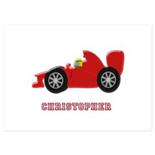 Personalised Red Racing Car Invitations