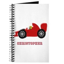Personalised Red Racing Car Journal