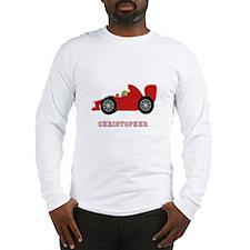 Personalised Red Racing Car Long Sleeve T-Shirt