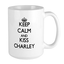 Keep Calm and Kiss Charley Mugs