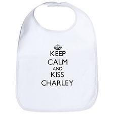 Keep Calm and Kiss Charley Bib