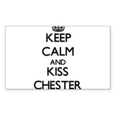 Keep Calm and Kiss Chester Decal