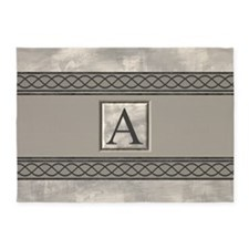 Personalizable Marble Monogram 5'x7'Area Rug