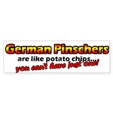Potato Chips German Pinscher Bumper Bumper Sticker