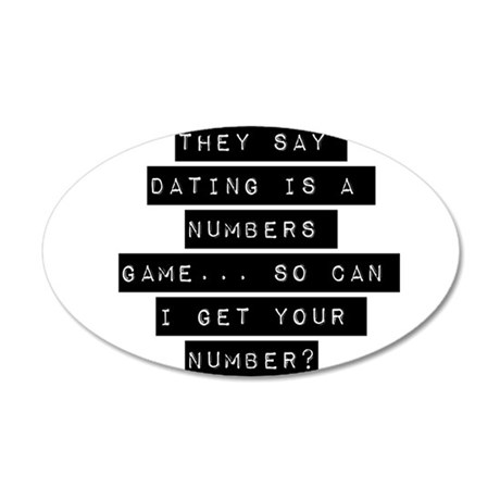 They Say Dating Is A Numbers Game Wall Decal