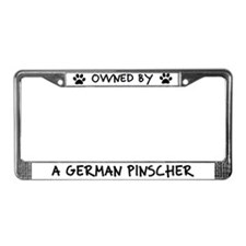 Owned by a German Pinscher License Plate Frame