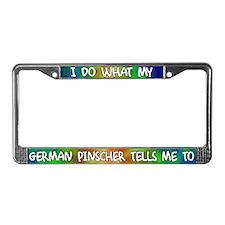 Do what German Pinscher License Plate Frame