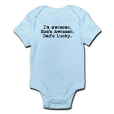 Moms Awesome Dads Lucky Body Suit