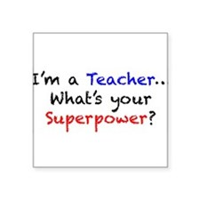 "Unique Teachers Square Sticker 3"" x 3"""