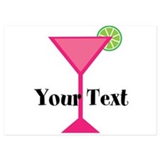 Personalizable Pink Cocktail Invitations
