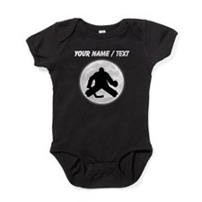 Custom Hockey Goalie Moon Baby Bodysuit