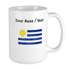Custom Distressed Uruguay Flag Mugs