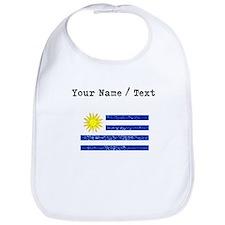 Custom Distressed Uruguay Flag Bib