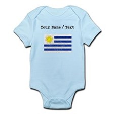 Custom Distressed Uruguay Flag Body Suit