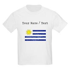 Custom Distressed Uruguay Flag T-Shirt