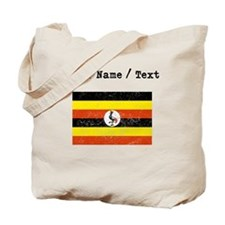 Custom Distressed Uganda Flag Tote Bag