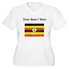 Custom Distressed Uganda Flag Plus Size T-Shirt