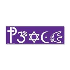 Cute Symbol for coexistence Car Magnet 10 x 3
