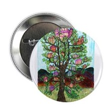 "Girdners Tree Houses 2.25"" Button"