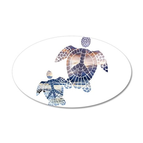 Peace Turtles-2 Wall Decal