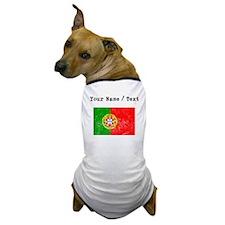 Custom Distressed Portugal Flag Dog T-Shirt