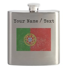 Custom Distressed Portugal Flag Flask