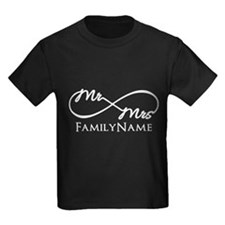 Custom Infinity Mr. and Mrs. T-Shirt