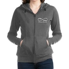 Custom Infinity Mr. and Mrs. Women's Zip Hoodie