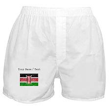Custom Distressed Kenya Flag Boxer Shorts