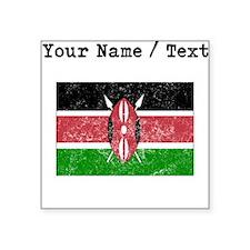 Custom Distressed Kenya Flag Sticker