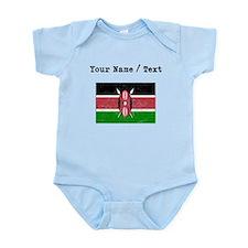 Custom Distressed Kenya Flag Body Suit