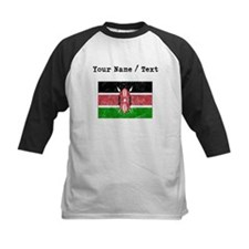 Custom Distressed Kenya Flag Baseball Jersey
