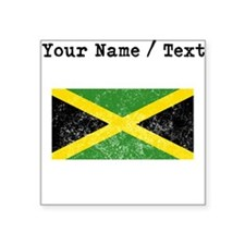 Custom Distressed Jamaica Flag Sticker
