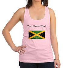 Custom Distressed Jamaica Flag Racerback Tank Top