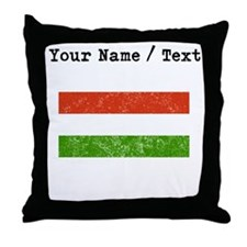 Custom Distressed Hungary Flag Throw Pillow