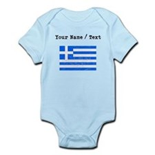 Custom Distressed Greece Flag Body Suit