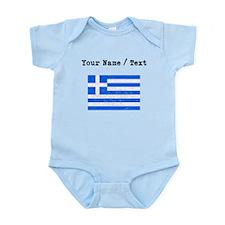 Custom Distressed Greece Flag Body Suit